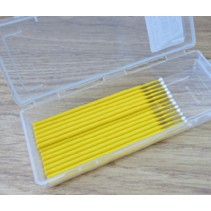 A45811 - 20 Piece Dispenser Box Medium Yellow Bendable Applicators