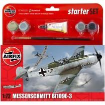 AIRFIX MESSERSCHMITT 1/72 BF109E STARTER SET A55106