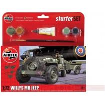 AIRFIX WILLYS MB JEEP 1/72 STARTER SET A55117