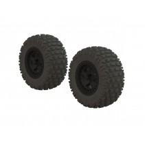 Fortress SC Tire Set Glued Blk 2 Z-AR550042
