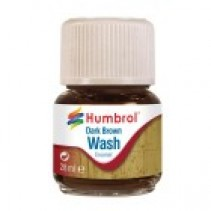 Humbrol Enamel Wash Dark Brown 28ml