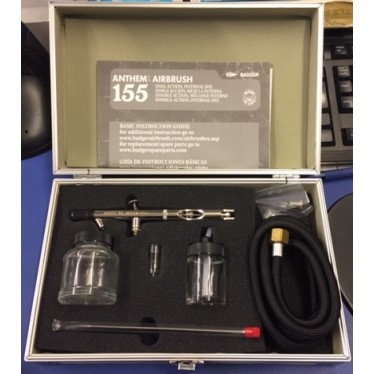 Badger 155-9 Anthem Dual Action Siphon FeedAirbrush Kit with Hose in Wood Box