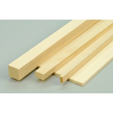 6x6x915mm Basswood Lime Strip (1)