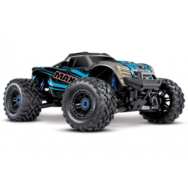 Traxxas Maxx with 4S ESC - 1/10 4WD Bl Electric Monster Truck - Blue TRX89076-4