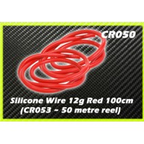 Schumacher Core RC CR050 Silicone Wire 12g - Red 1m