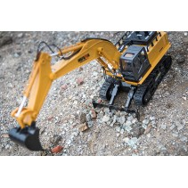 Huina 1/16 Scale Rc Excavator 2.4g 11ch w/DIE Cast Bucket CY1510