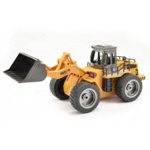HUINA 2.4G 6CH RC BULLDOZER w/DIE CAST BUCKET CY1520