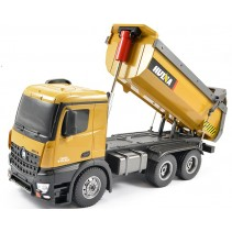 HUINA RC TIPPER/DUMP TRUCK 2.4G 10CH WITH DIE CAST CAB, BUCKETS & WHEELS CY1573