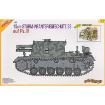 Cyber-Hobby 15cm Sturm-Infanteriegeshutz 33 auf Pz.III D9123