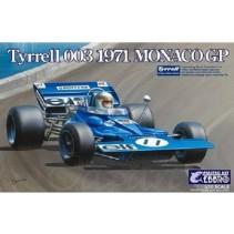 Ebbro E007 Tyrell 003 Monaco 1971 Model Kit 1/20 (Jackie Stewart)