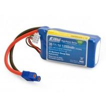 E-Flite EFLB13503S30 1350mAh 3S 11.1volt 30C LiPo 13awg EC3 Connector Battery