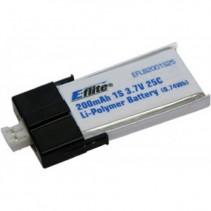 200mAh 1S 3.7V 25C LiPo Battery E-flite EFLB2001S25
