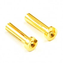 Etronix ET0605LP 4mm Male Gold Connectors (2) for Right Angle