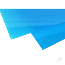 EVG9902 6x12in (15x30cm) Transparent Coloured Sheet .010in Thick Blue (2)