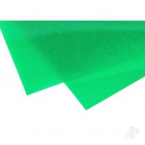 EVG9903 6x12in (15x30cm) Transparent Coloured Sheet .010in Thick Green (2)