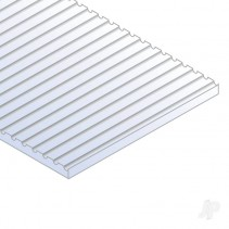 6x12in (15x30cm) HO-Scale Car Siding Sheet .040in (1.0mm) Sheet (1 sheet per pa)