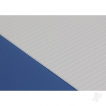 EG4125 6x12in (15x30cm) V-Groove Siding Sheet .040in (1.0mm) Thick .125in Spaci)