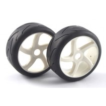 "Fastrax 1/8th Premounted Slick Tyres 'Cut/5-Spoke"" FAST0012"
