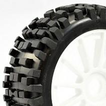 1/8 Buggy 'Rock Block' Tyres Pre-Mounted on 12 Spoke Wheels (2) FAST0026