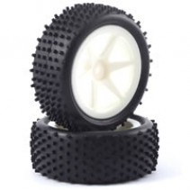 Fastrax FAST0046S 1/10 Mounted Buggy Tyres LP Stub Front (Spoked)