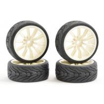 Fastrax 1/10 Street/Tread Tyre 20SP White Wheel FAST0076W
