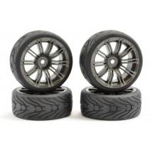 Fastrax 1/10 Street/Tread Tyre 20SP Gun Metal Wheel FAST0077GM