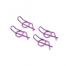 Small Locking Body Pins (4) - Purple