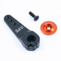 Fastrax 25T Jumbo Black Alum Single Servo Horn (Futaba) FAST328B