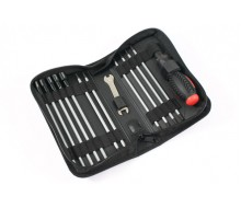 FASTRAX FAST607 19-in-1 TOOL BAG 3xSLOT, 3x PH 6xHEX, 4xNUT 1x 5/8mm WRENCH
