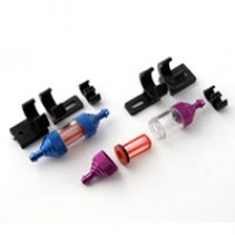Fastrax Fuel Filter Purple w/Mount Deluxe FAST930P