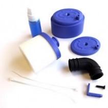 Fastrax Waterproof Air Filter 1/8 w/Air Filter Oil - Blue FAST93B