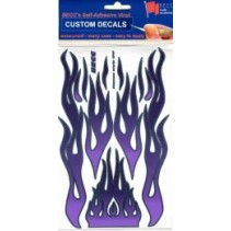 Flames1PP - Flames Light Purple, Dark Purple and Chrome 1:10-1:12