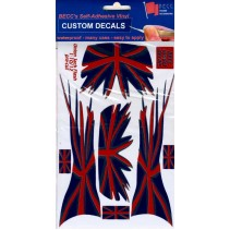 Flash Union Jack - GB - England - Red Blue Chrome