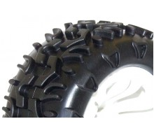 FTX Carnage Mounted Wheel/Tyre Pair White FTX6310W