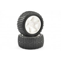 FTX Comet Buggy Rear Mounted Tyre and Wheel White FTX9063W