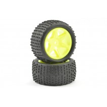 FTX Comet Buggy Rear Mounted Tyre and Wheel Yellow FTX9063Y