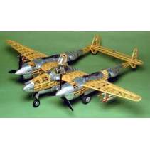 Guillows P38 Lightning Balsa Scale 1/16 Kit G2001