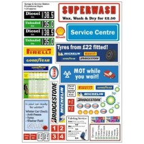 Garage and Service Station Promotional Signs 1/24