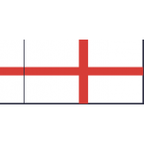 Fabric Flag C 38mm St Georges Cross Command Flag White Squadron