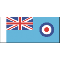 GB06 RAF Ensign Size G 125mm Fabric Flag