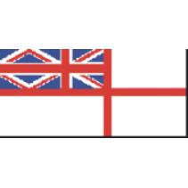 GB52 - White Ensign 1801-1864 Size E 75mm Fabric Flag