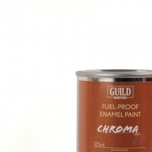 Guild Materials Gloss Enamel Fuel-Proof Paint White (125ml Tin) GLDCHR6200