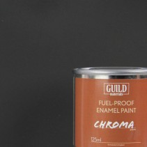 Chroma Matt Enamel Fuel-Proof Paint Black (125ml Tin) GLDCHR6303