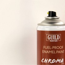 Chroma  Matt Enamel Fuel-Proof Paint White (400ml Aerosol) GLDCHR6500