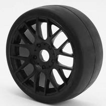 Sweep 1/8 GT R2 Pro Compound Slick Glued 45D/Black Wheels GTR2-45EK16P