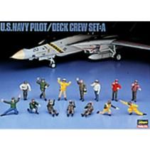Hasegawa 486 U.S. Navy Pilot Deck Crew Set A 1/48