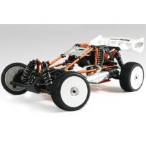 HoBao Hyper Cage Buggy RTR w/Mach *28 Savox 2.4Ghz Radio - Orange HBCB-S28RG