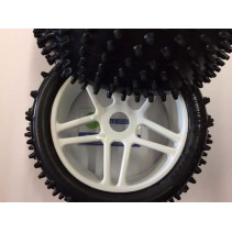 HoBao Directional Spike Tyre Set (4) Mounted White HFR03F-MW