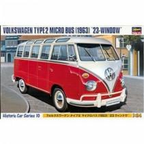 Hasegawa HMCC10 VW Type 2 Micro Bus (1963) 23-Windows 1/24
