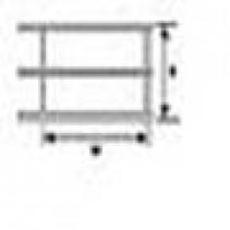 Plastruct N Scale 1:200 Styrene Hand Rail (2) 90681